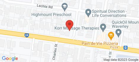 Location map for 3/89-91 Headingley Road Mount Waverley
