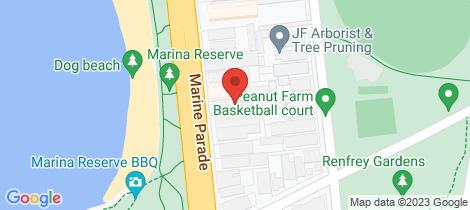 Location map for 9/20 Marine Parade St Kilda
