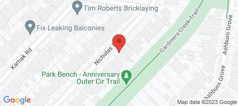 Location map for 43 Nicholas Street Ashburton
