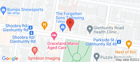 Location map for 7/539 Glen Huntly Road Elsternwick