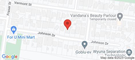 Location map for 19 Johnson Drive Glen Waverley
