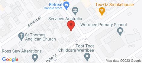 Location map for 9 Werribee Street Werribee