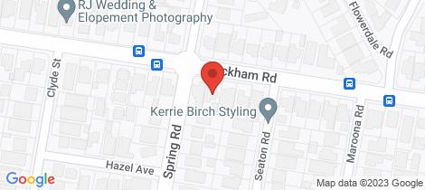 Location map for 88a Wickham Road Hampton East