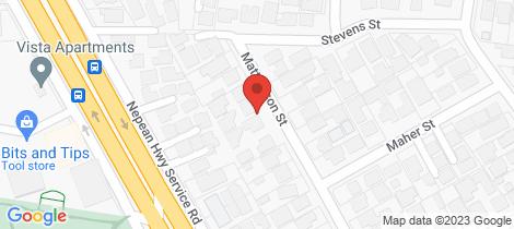 Location map for 2/10 Matthieson Street Highett