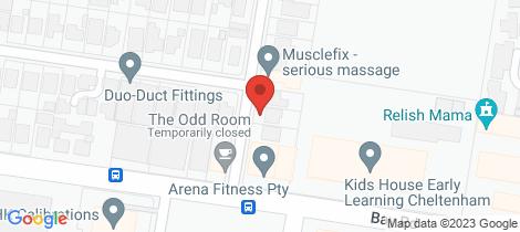 Location map for 4 Middleton Street Highett