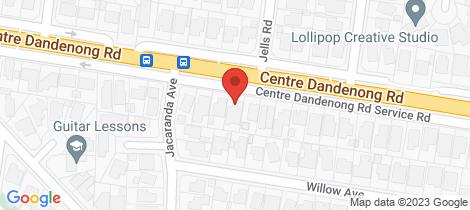 Location map for 190 Centre Dandenong Road Cheltenham