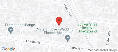 Location map for 1/4 Coleman Court Cheltenham