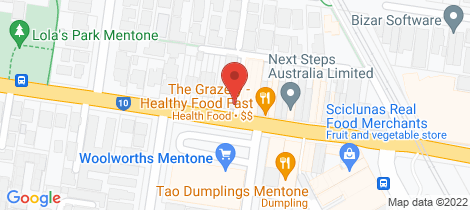 Location map for 150 Balcombe Road Mentone