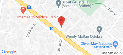 Location map for 5 61 Centre Dandenong Road Dingley Village