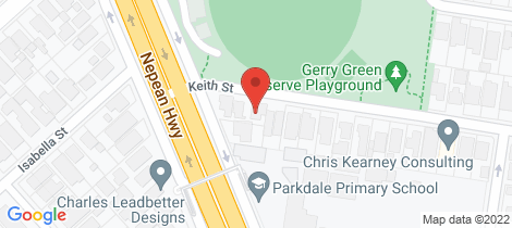 Location map for 1/2 Keith Street Parkdale