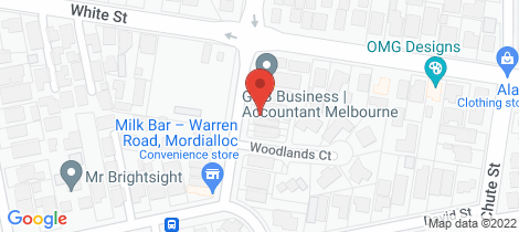 Location map for 8 Warren Road Mordialloc