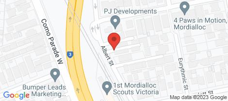 Location map for 8/5 Albert St Mordialloc