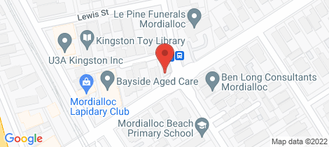 Location map for 1/54a Barkly Street Mordialloc