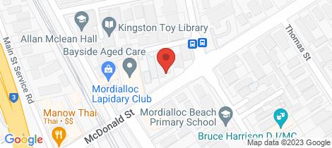 Location map for 10/11 McDonald Street Mordialloc