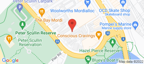 Location map for 6/214 Beach Road Mordialloc