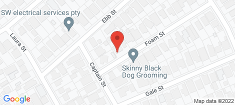 Location map for 1A Foam Street Aspendale