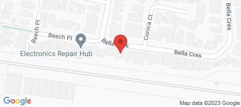 Location map for 21 Bella Crescent Hallam