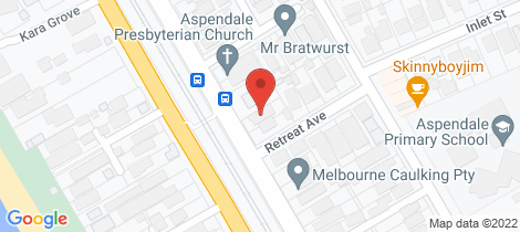 Location map for 67 Station Street Aspendale