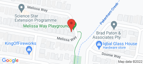 Location map for 64 Melissa Way Pakenham