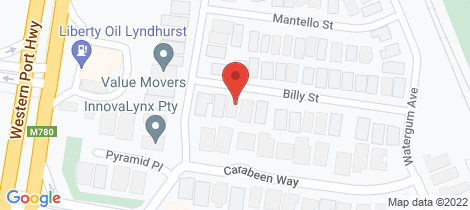 Location map for 23 Billy Street Lyndhurst