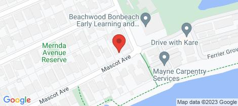 Location map for 2/77 Mascot Avenue Bonbeach