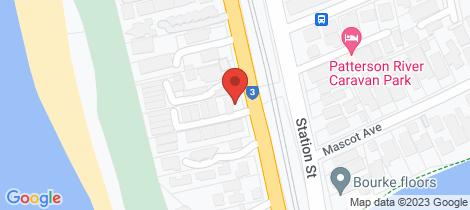 Location map for 5/601 Nepean Hwy Bonbeach