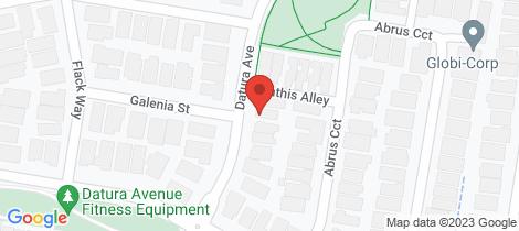 Location map for 36 Datura Avenue Cranbourne North