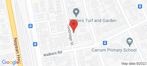 Location map for 13 Tonbridge Street Carrum
