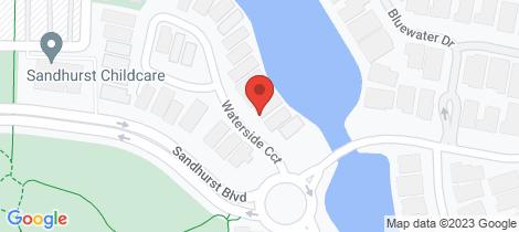 Location map for 10 Waterside Circuit Sandhurst