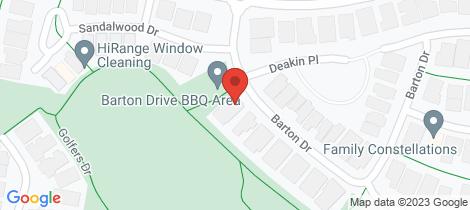Location map for 8 Barton Drive Sandhurst