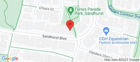 Location map for 110 Sandhurst Boulevard Sandhurst