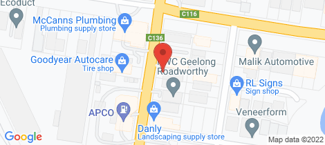 Location map for 370 Thompson Road North Geelong