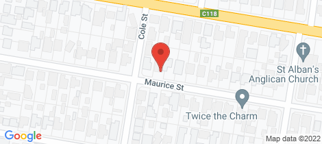Location map for 21B Maurice Street Herne Hill