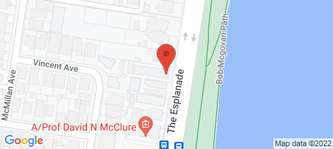 Location map for 3/21 The Esplanade Geelong