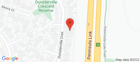Location map for 64 Dunsterville Crescent Frankston