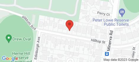 Location map for 12 Hilltop Street Herne Hill