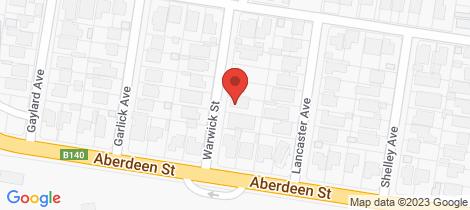 Location map for 29 Warwick Street Newtown