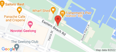 Location map for 208/6 - 8 Eastern Beach Road Geelong