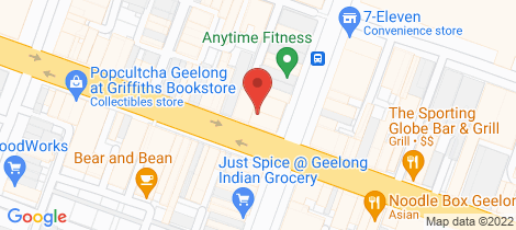 Location map for Level 1, 9/147 Ryrie Street Geelong
