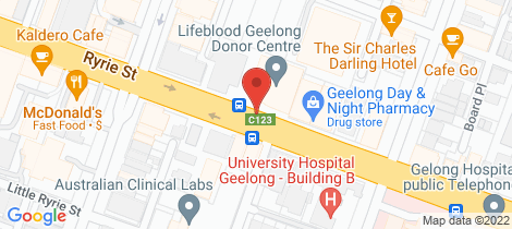 Location map for Unit 2//Level 1, 147 Ryrie Street Geelong