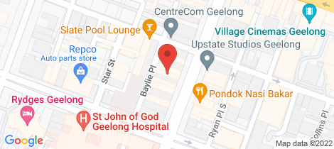 Location map for 192 Moorabool Street Geelong