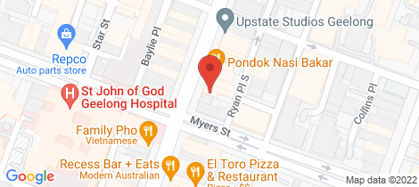 Location map for 227 Moorabool Street Geelong