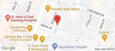Location map for Level 3/ 117 Myers Street Geelong