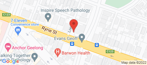 Location map for 345A Ryrie Street Geelong