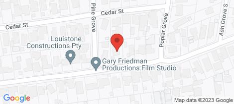 Location map for 45 Beech Street Langwarrin