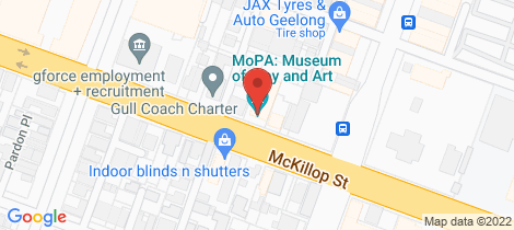 Location map for Shop 5 Wintergarden, 51 McKillop Street Geelong