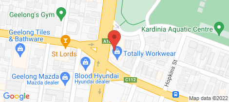Location map for Units 1 & 3/172 Fyans Street South Geelong