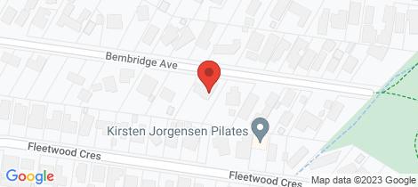 Location map for 16 Bembridge Avenue Frankston South