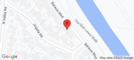 Location map for 58 Barwon Boulevard Highton