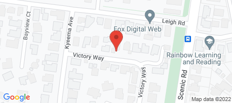 Location map for 9 Victory Way Highton